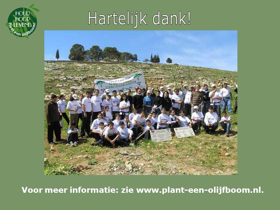 Hartelijk dank! Voor meer informatie: zie www.plant-een-olijfboom.nl.