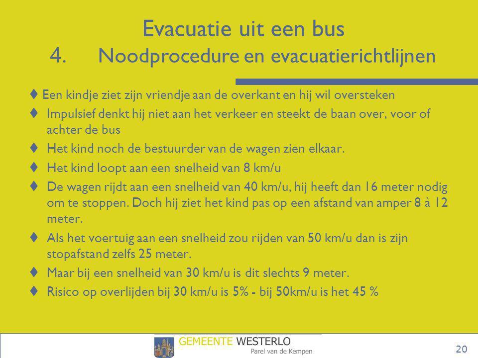 Evacuatie uit een bus 4. Noodprocedure en evacuatierichtlijnen