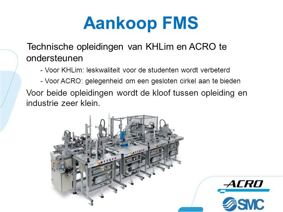 Aankoop FMS Technische opleidingen van KHLim en ACRO te ondersteunen