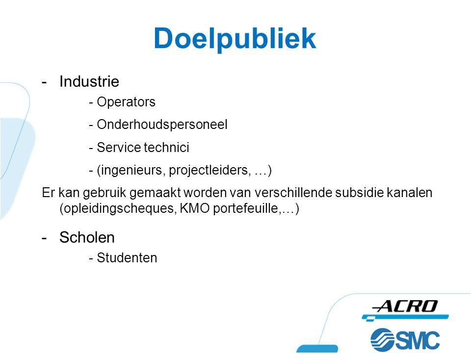 Doelpubliek Industrie Scholen - Operators - Onderhoudspersoneel