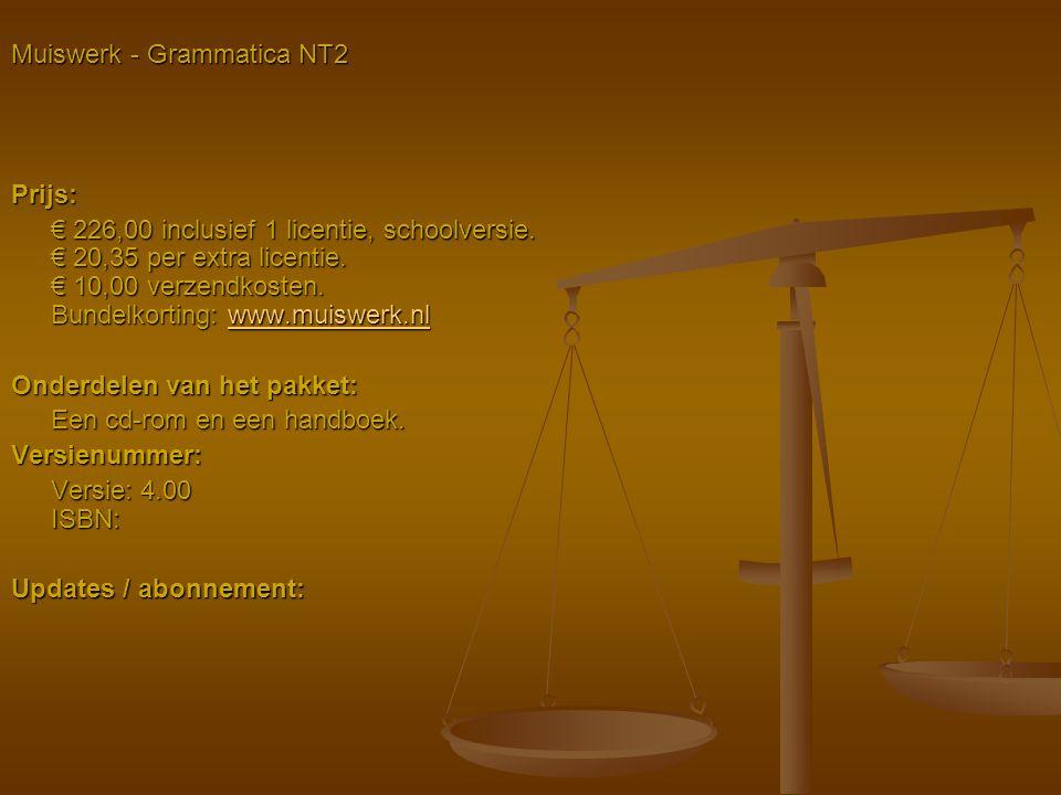 Muiswerk - Grammatica NT2