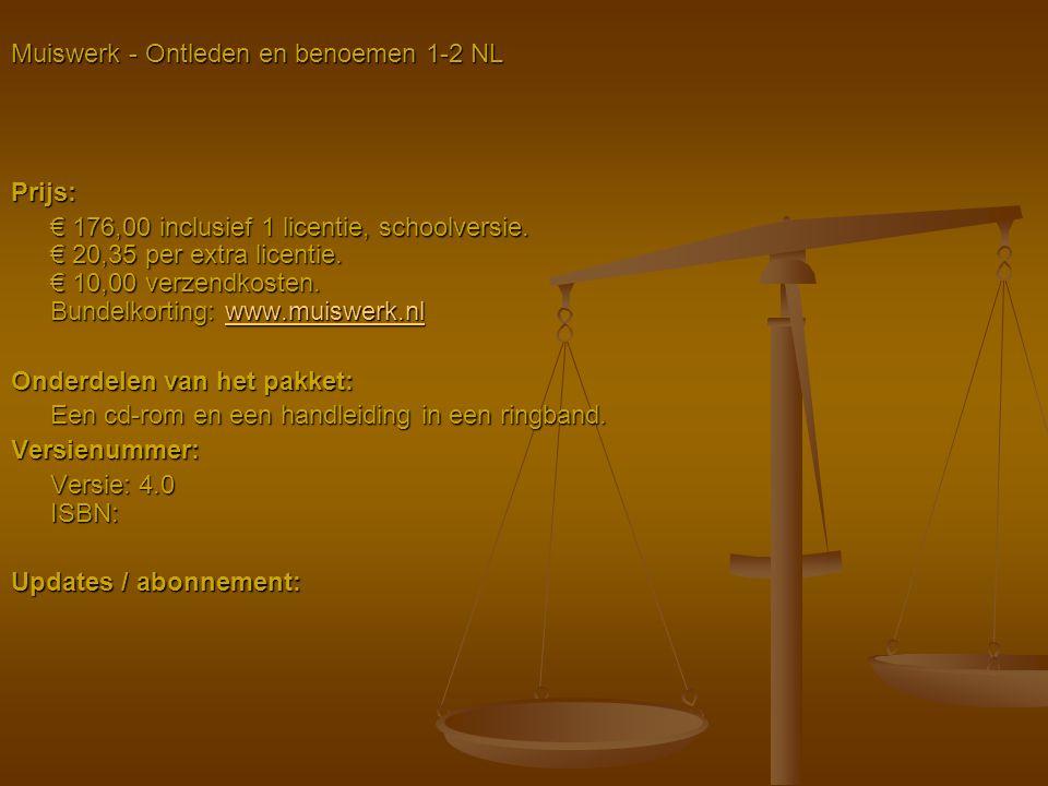 Muiswerk - Ontleden en benoemen 1-2 NL