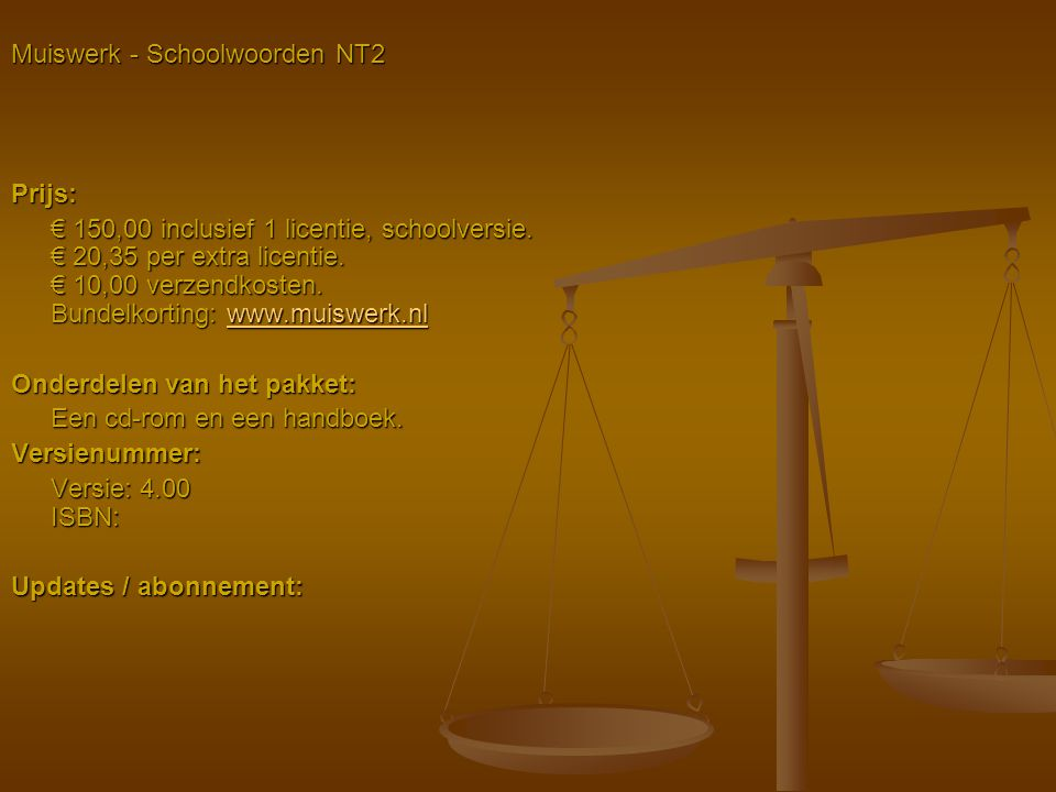 Muiswerk - Schoolwoorden NT2