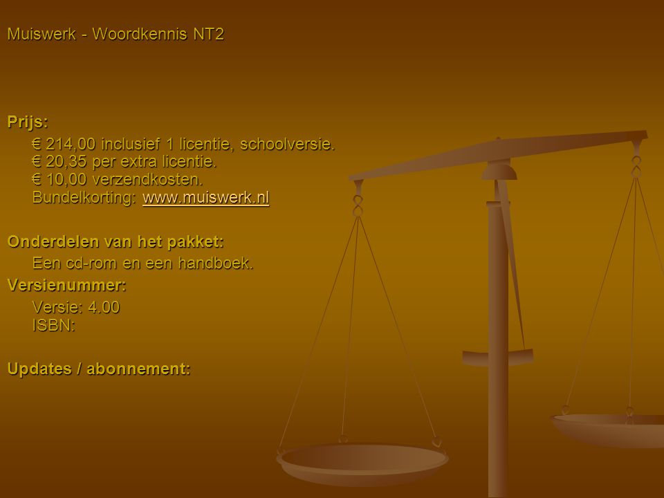 Muiswerk - Woordkennis NT2