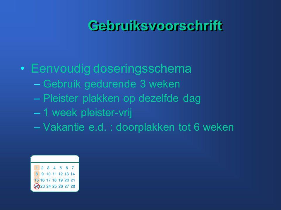Gebruiksvoorschrift Eenvoudig doseringsschema