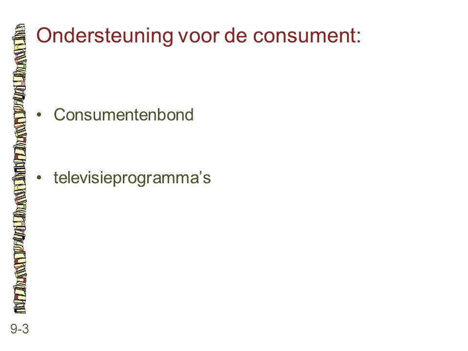 Ondersteuning voor de consument: