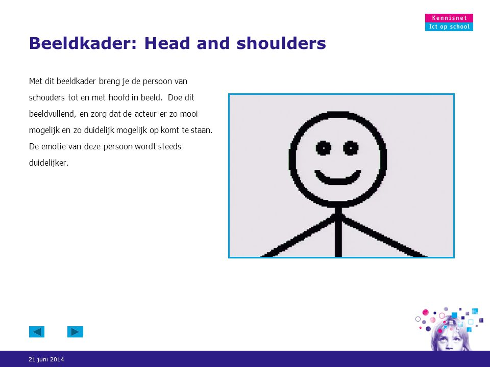 Beeldkader: Head and shoulders