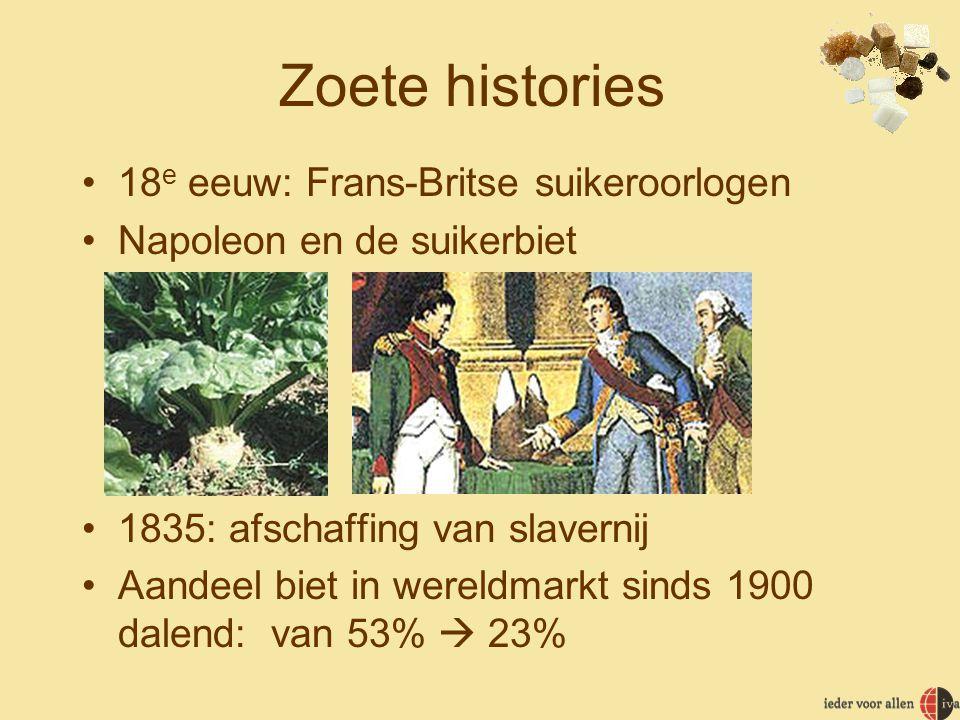 Zoete histories 18e eeuw: Frans-Britse suikeroorlogen