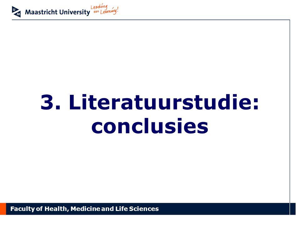 3. Literatuurstudie: conclusies