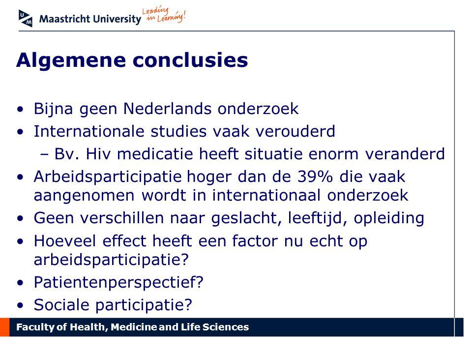 Algemene conclusies Bijna geen Nederlands onderzoek