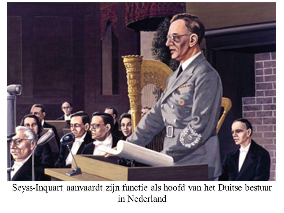 Seyss-Inquart aanvaardt zijn functie als hoofd van het Duitse bestuur in Nederland