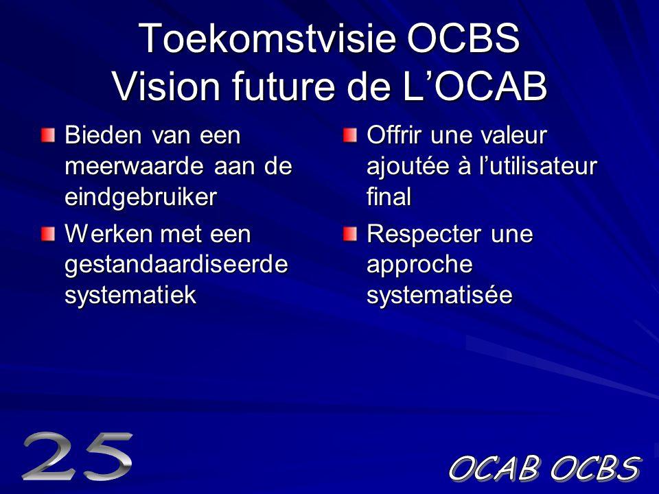Toekomstvisie OCBS Vision future de L'OCAB