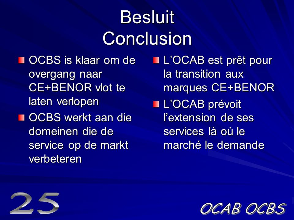Besluit Conclusion 25 OCAB OCBS