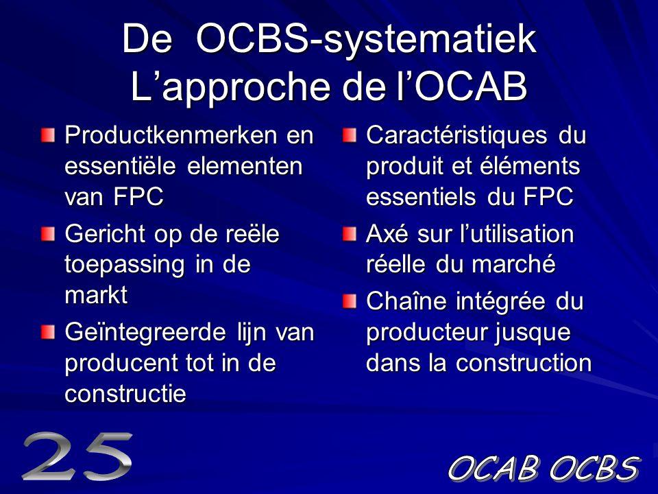 De OCBS-systematiek L'approche de l'OCAB