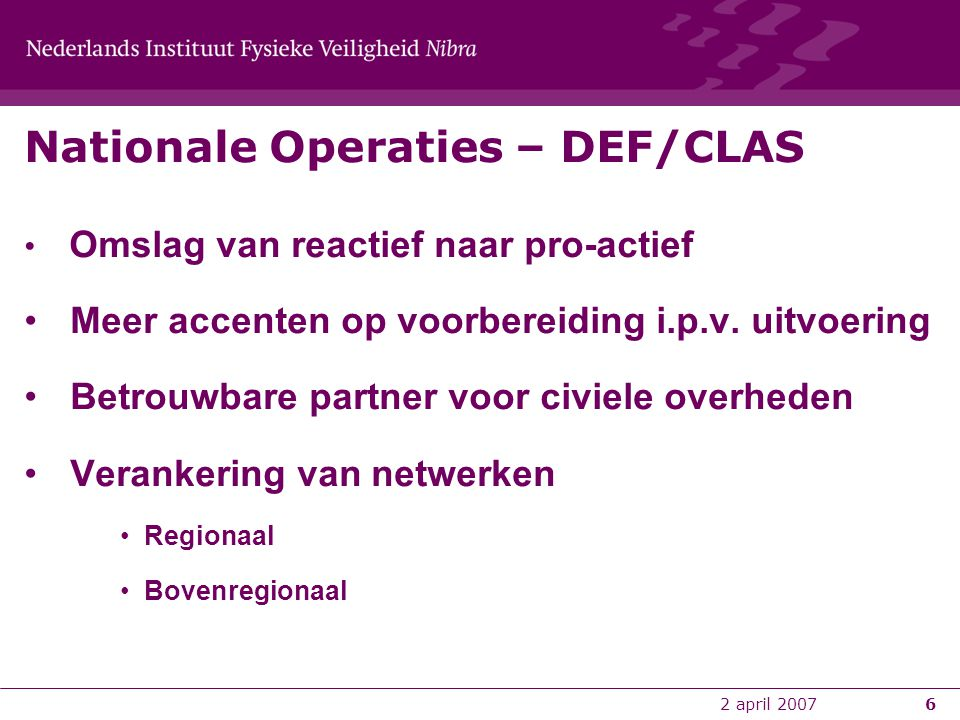 Nationale Operaties – DEF/CLAS