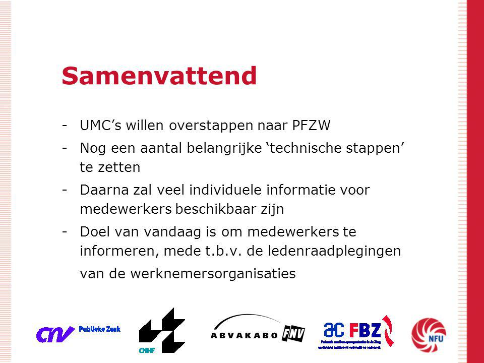 Samenvattend UMC's willen overstappen naar PFZW