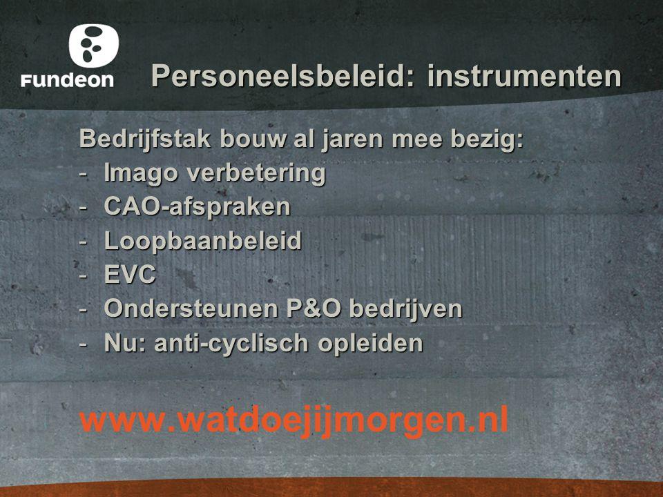 Personeelsbeleid: instrumenten