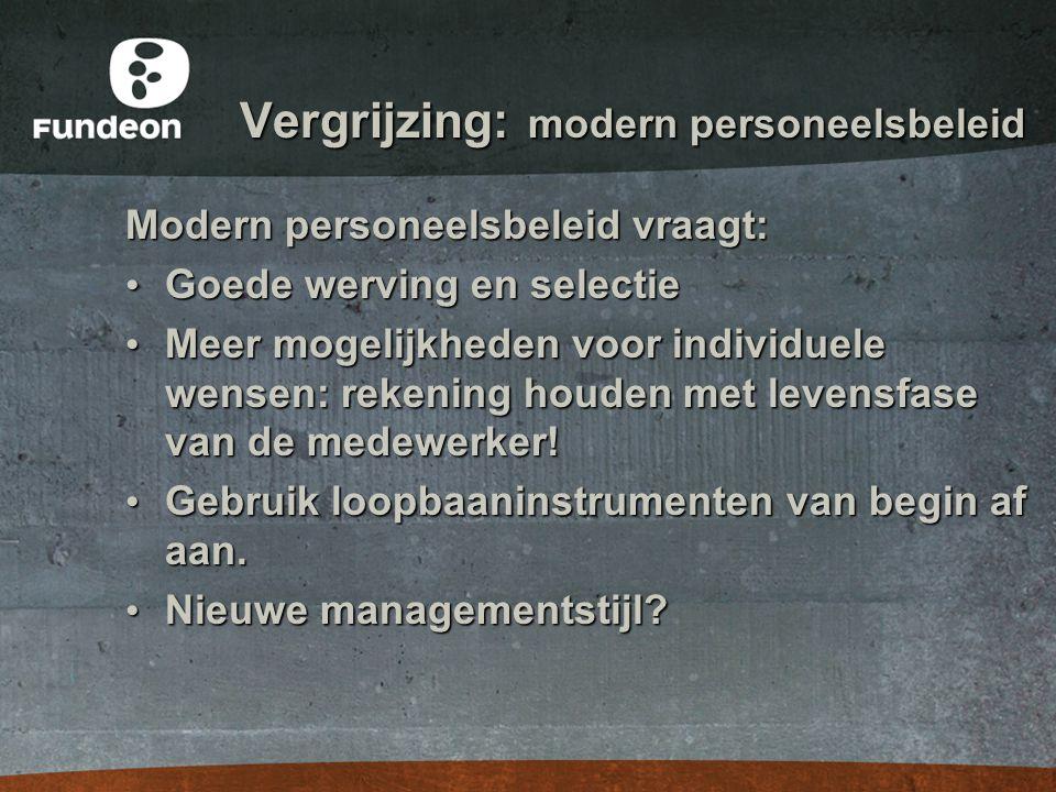 Vergrijzing: modern personeelsbeleid