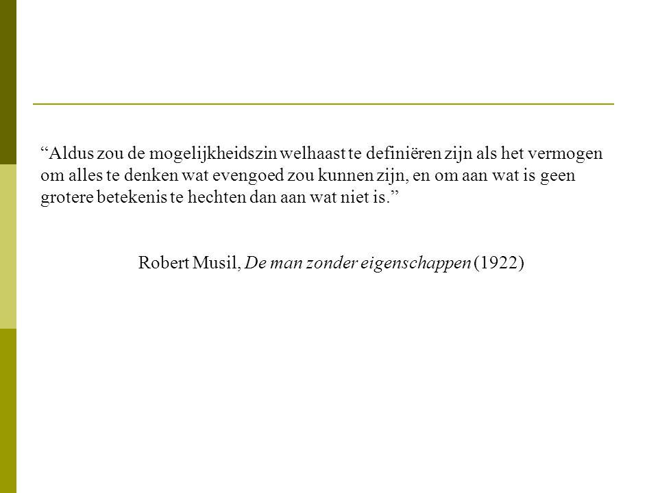 Robert Musil, De man zonder eigenschappen (1922)