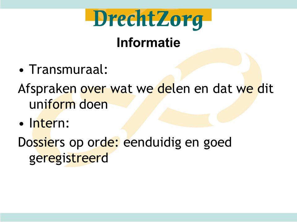 Informatie Transmuraal: Afspraken over wat we delen en dat we dit uniform doen.
