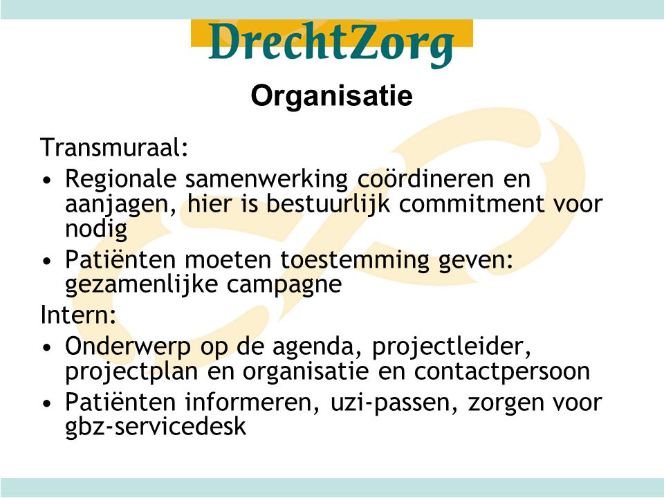 Organisatie Transmuraal: