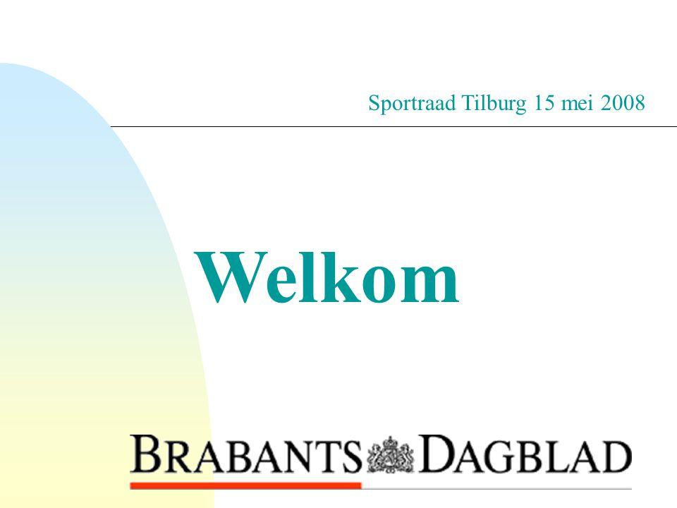 2-4-2017 Sportraad Tilburg 15 mei 2008 Welkom