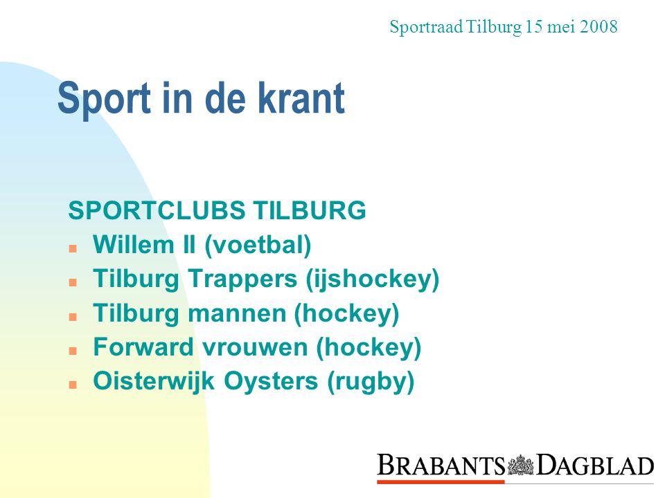Sport in de krant SPORTCLUBS TILBURG Willem II (voetbal)