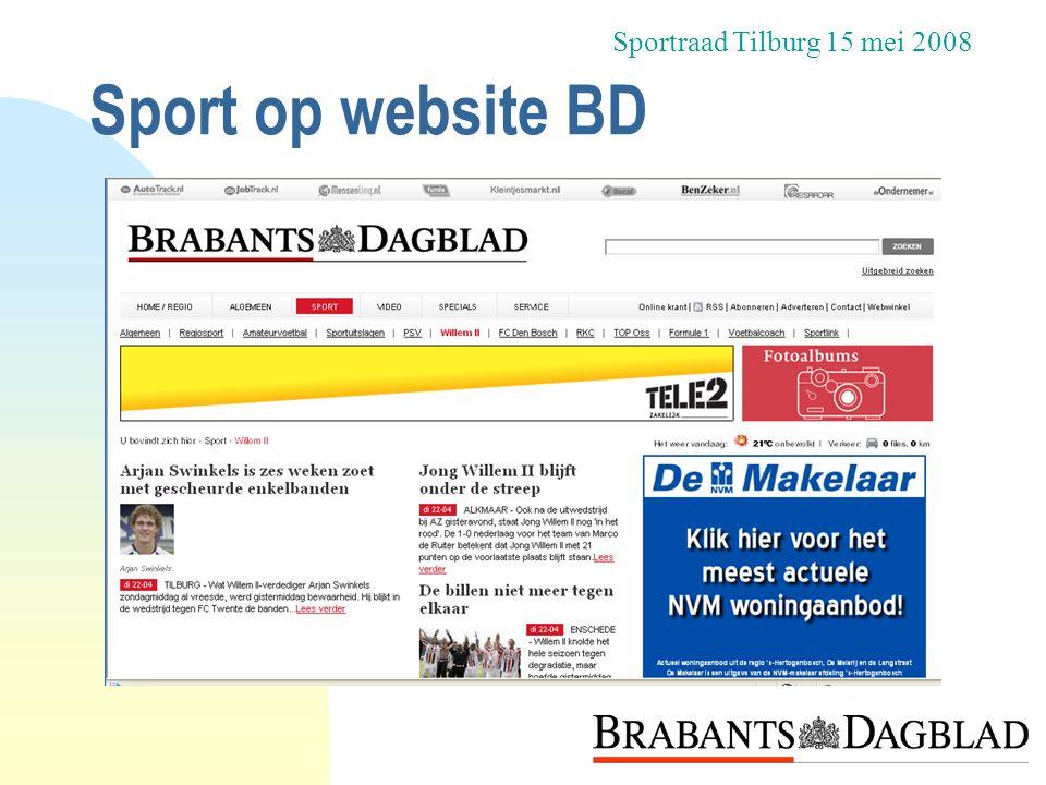 Sportraad Tilburg 15 mei 2008 Sport op website BD