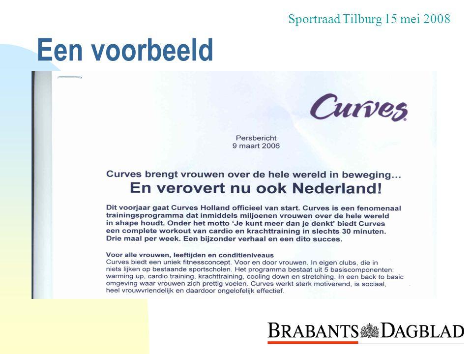 Sportraad Tilburg 15 mei 2008 Een voorbeeld