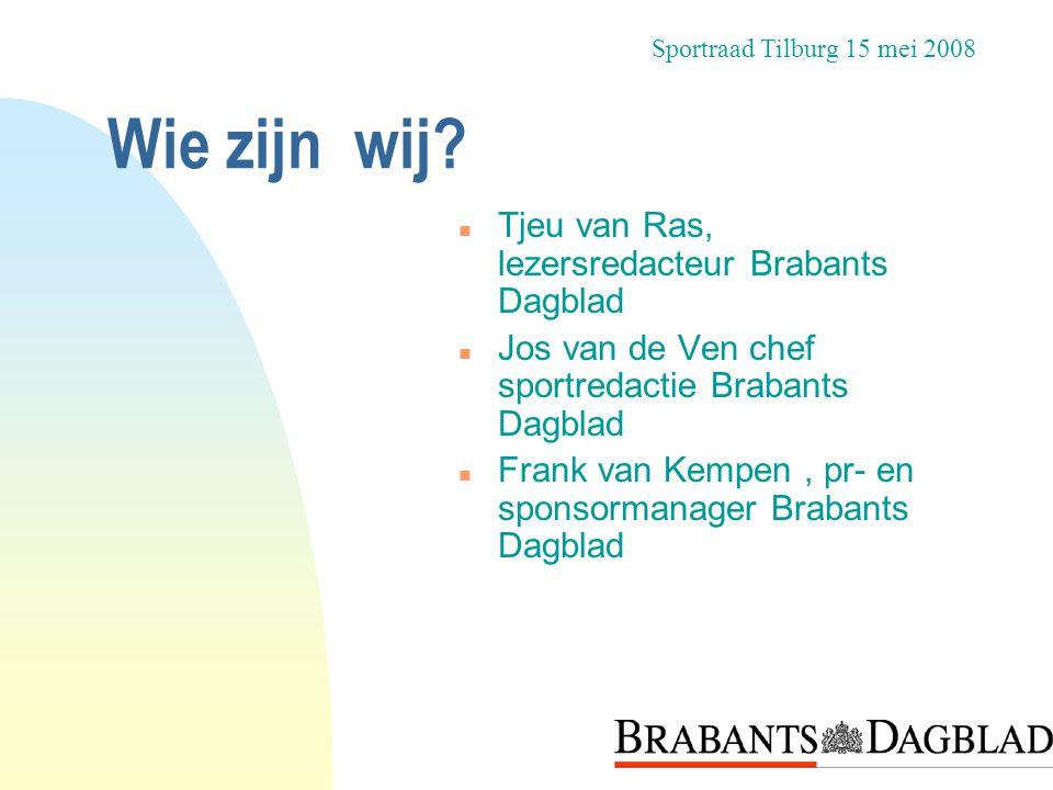 Wie zijn wij Tjeu van Ras, lezersredacteur Brabants Dagblad