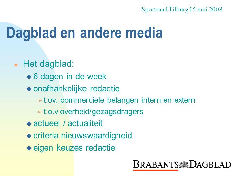 Dagblad en andere media