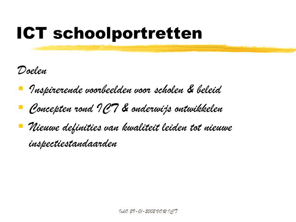 ICT schoolportretten Doelen