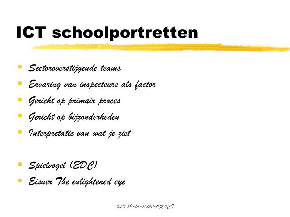 ICT schoolportretten Sectoroverstijgende teams