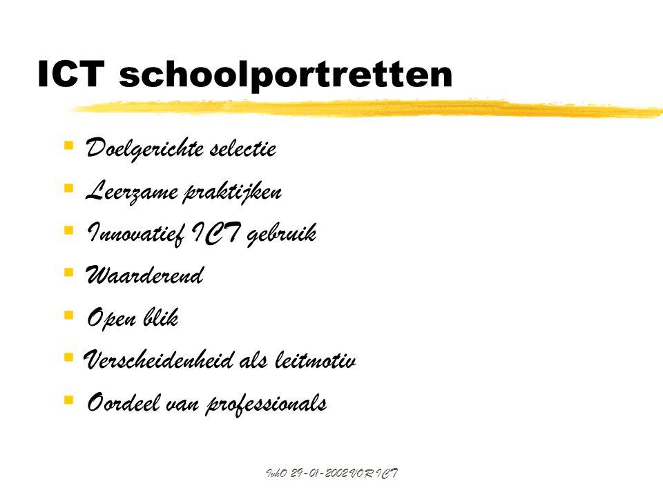 ICT schoolportretten Doelgerichte selectie Leerzame praktijken