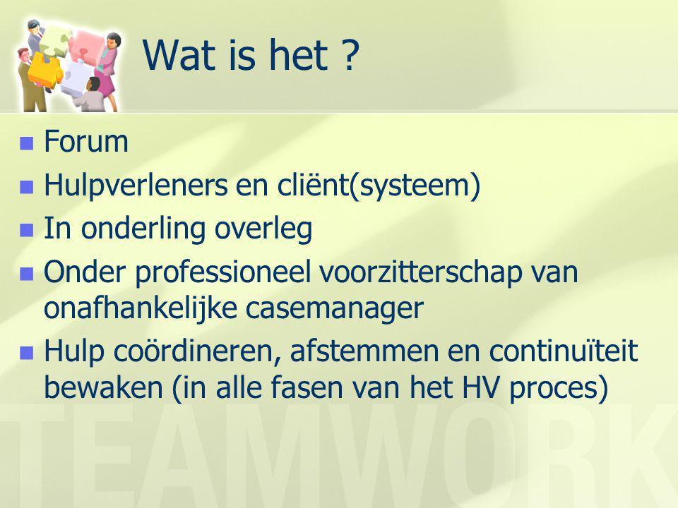 Wat is het Forum Hulpverleners en cliënt(systeem)