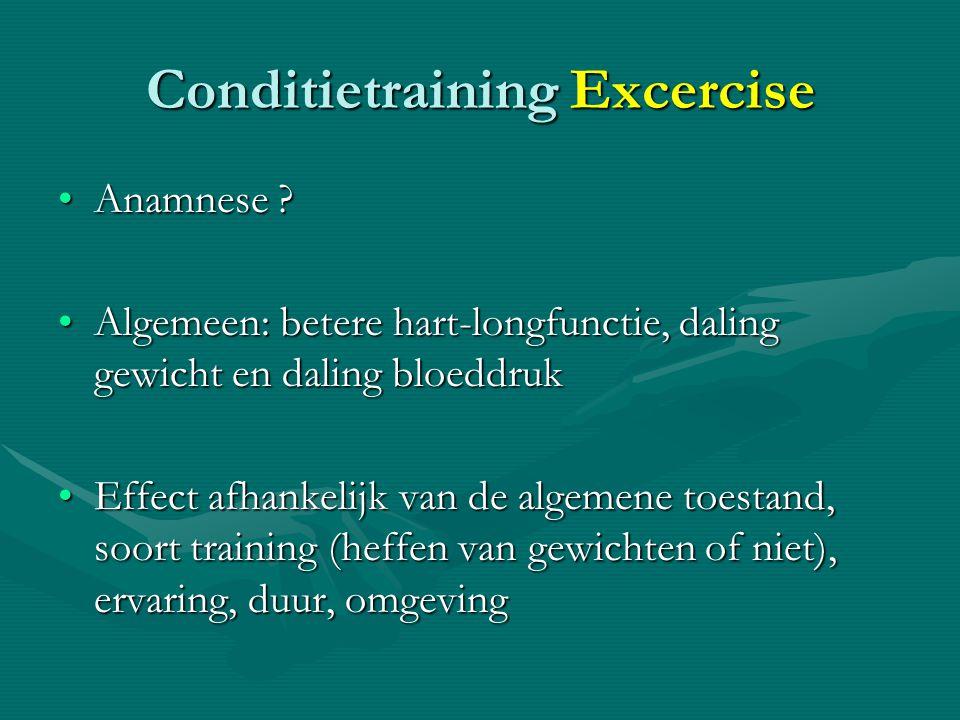 Conditietraining Excercise