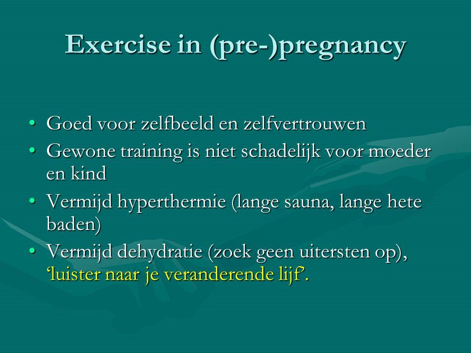 Exercise in (pre-)pregnancy