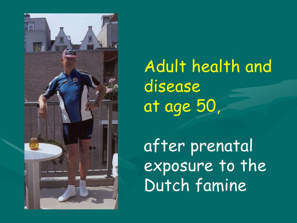Adult health and disease at age 50, after prenatal exposure to the Dutch famine