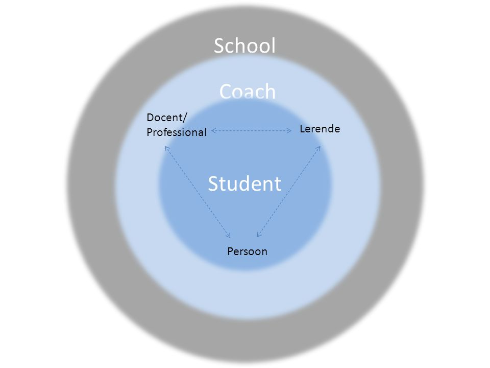 School Coach Student Docent/ Professional Lerende Persoon