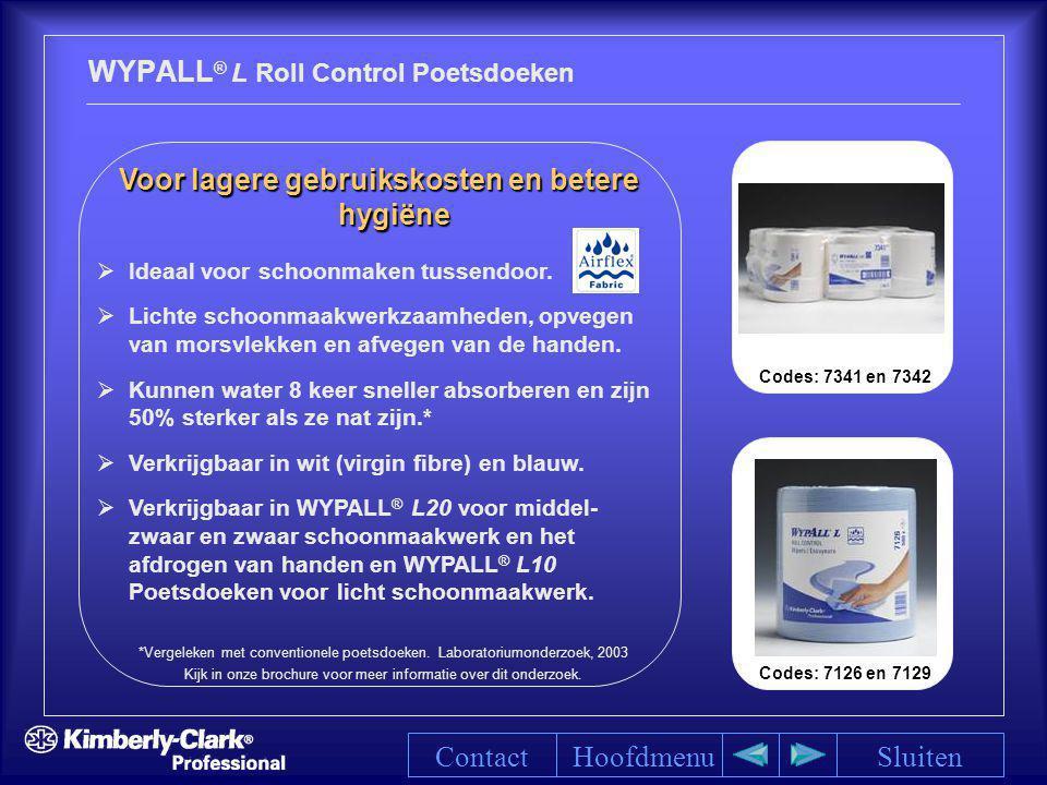 WYPALL® L Roll Control Poetsdoeken