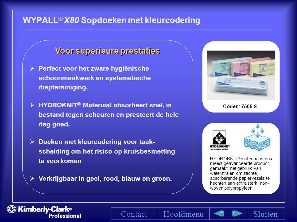WYPALL® X80 Sopdoeken met kleurcodering