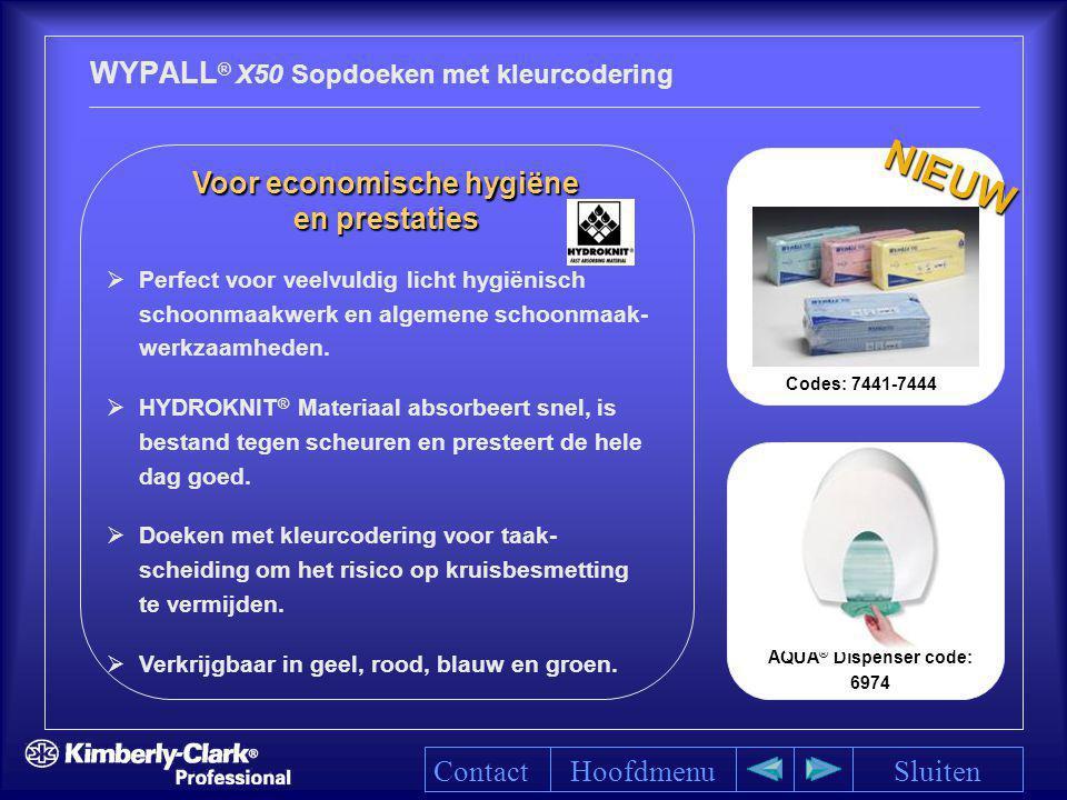 WYPALL® X50 Sopdoeken met kleurcodering
