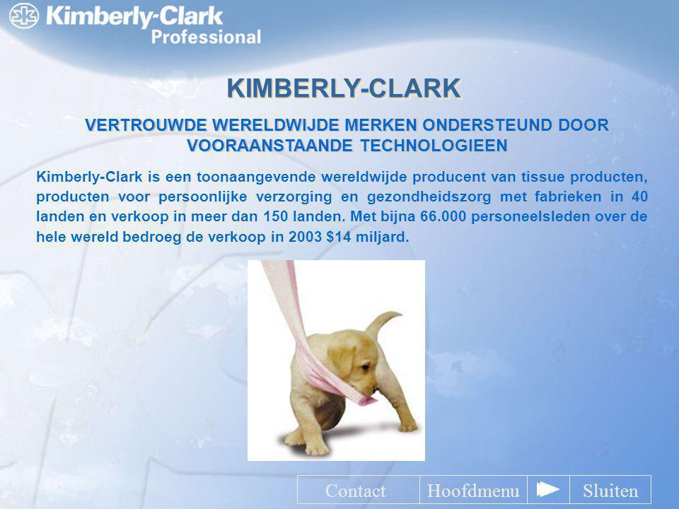 KIMBERLY-CLARK Contact Hoofdmenu Sluiten