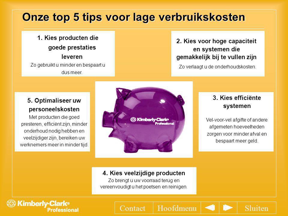 Onze top 5 tips voor lage verbruikskosten