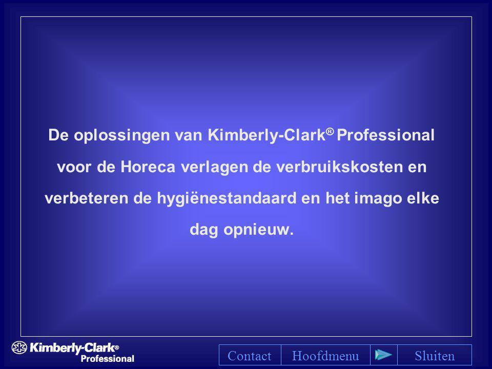 De oplossingen van Kimberly-Clark® Professional voor de Horeca verlagen de verbruikskosten en verbeteren de hygiënestandaard en het imago elke dag opnieuw.