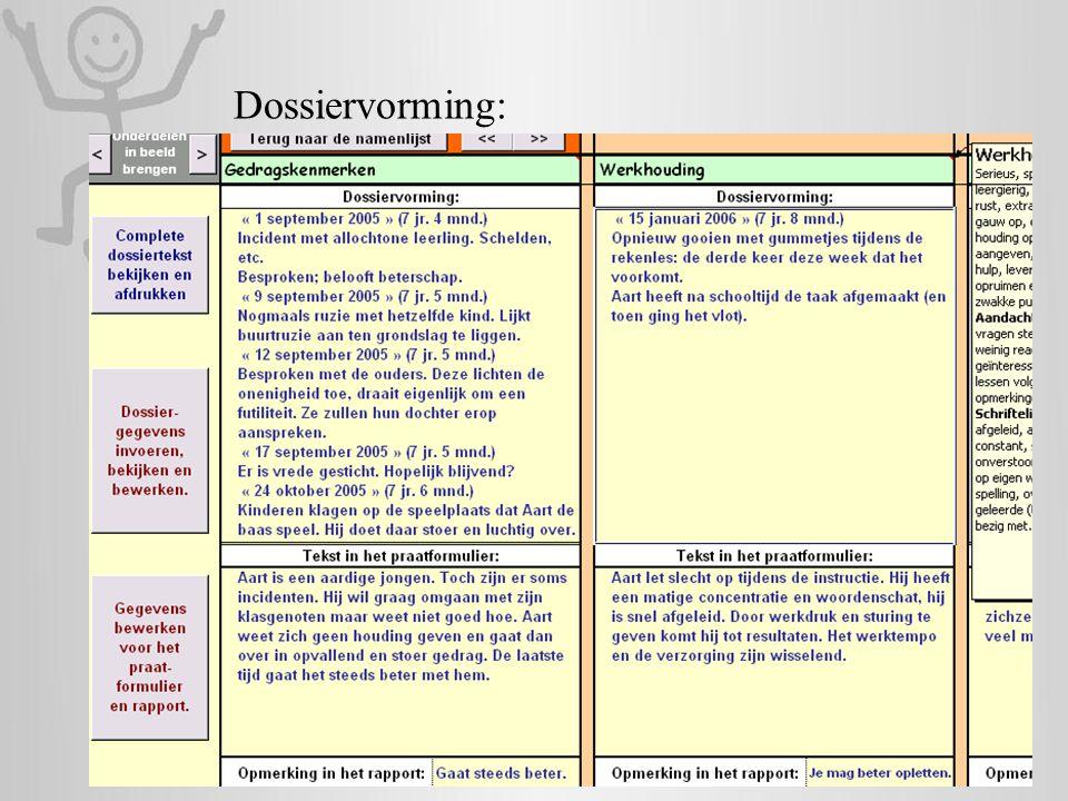 Dossiervorming: