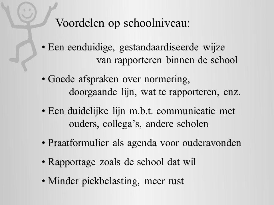 Voordelen op schoolniveau: