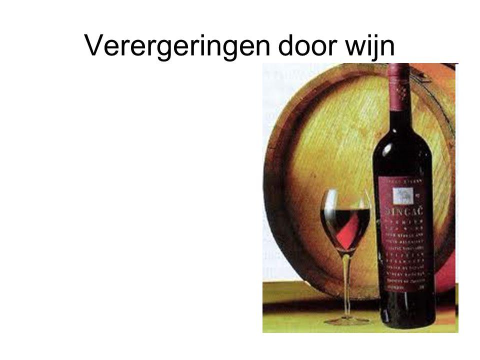 Verergeringen door wijn