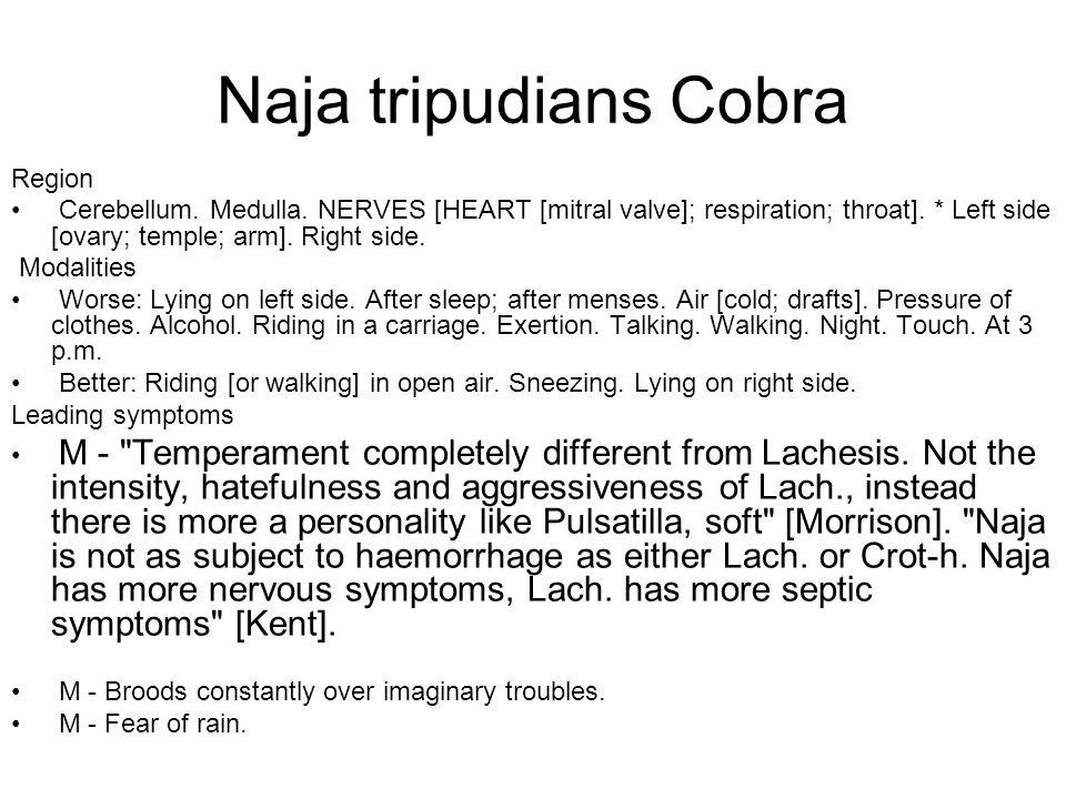 Naja tripudians Cobra Region