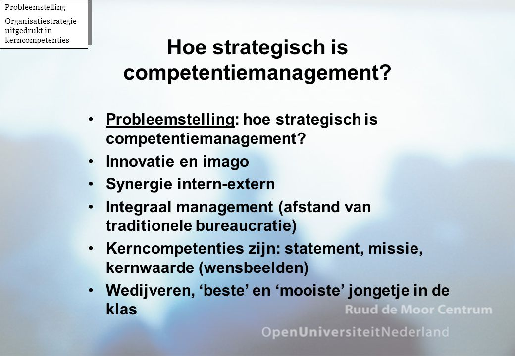 Hoe strategisch is competentiemanagement